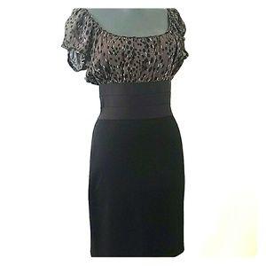 Studio M Black Empire Waist Dress